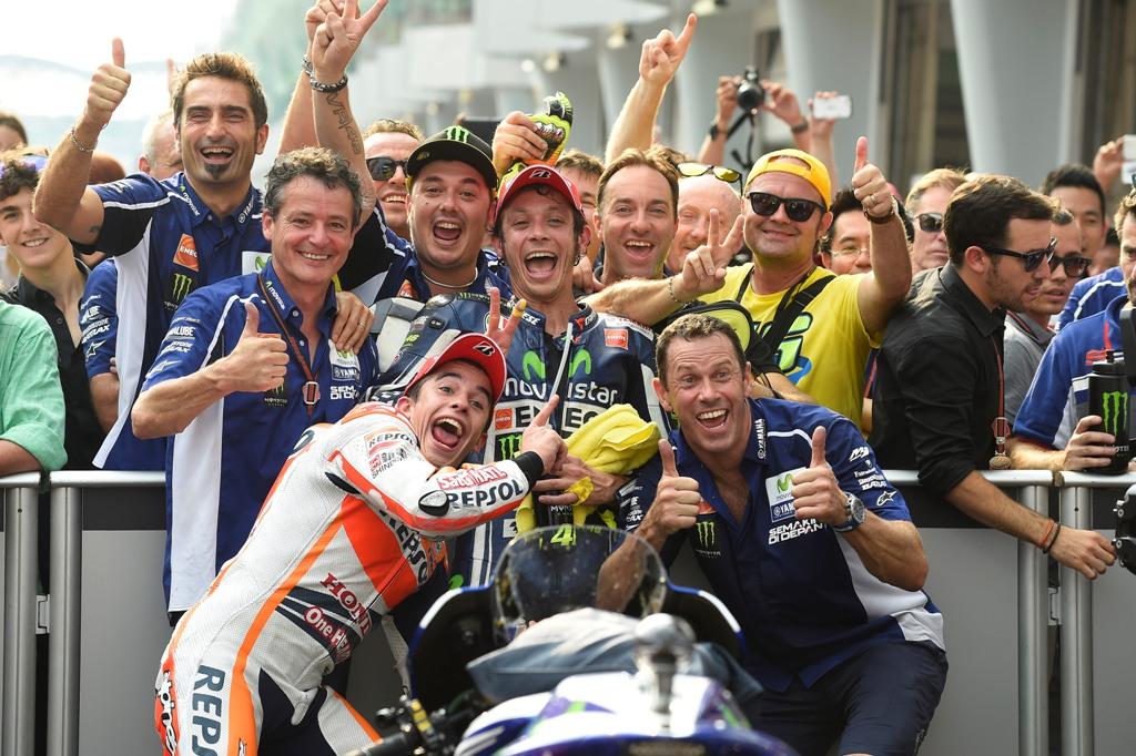 MotoGP 2014, Malesia, Valentino Rossi e Marc Marquez