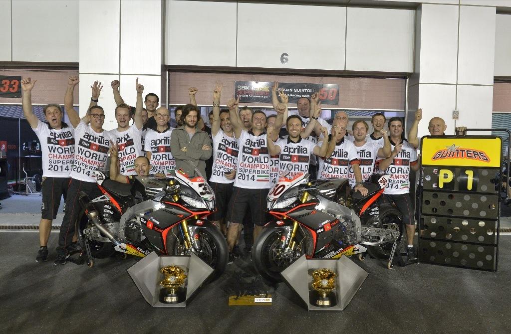 SBK 2014: il Team Aprilia 2014, Campione del Mondo SBK 2014