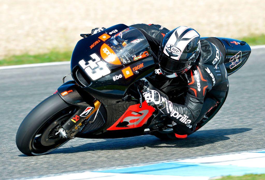 MotoGP, test Jerez 2014, novenbre, Marco Melandri continua l'apprendistato sulla MotoGP