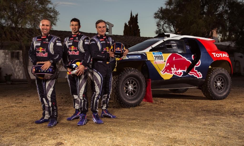 Peugeot 2008 DKR, l'equipaggio delle sfida francese
