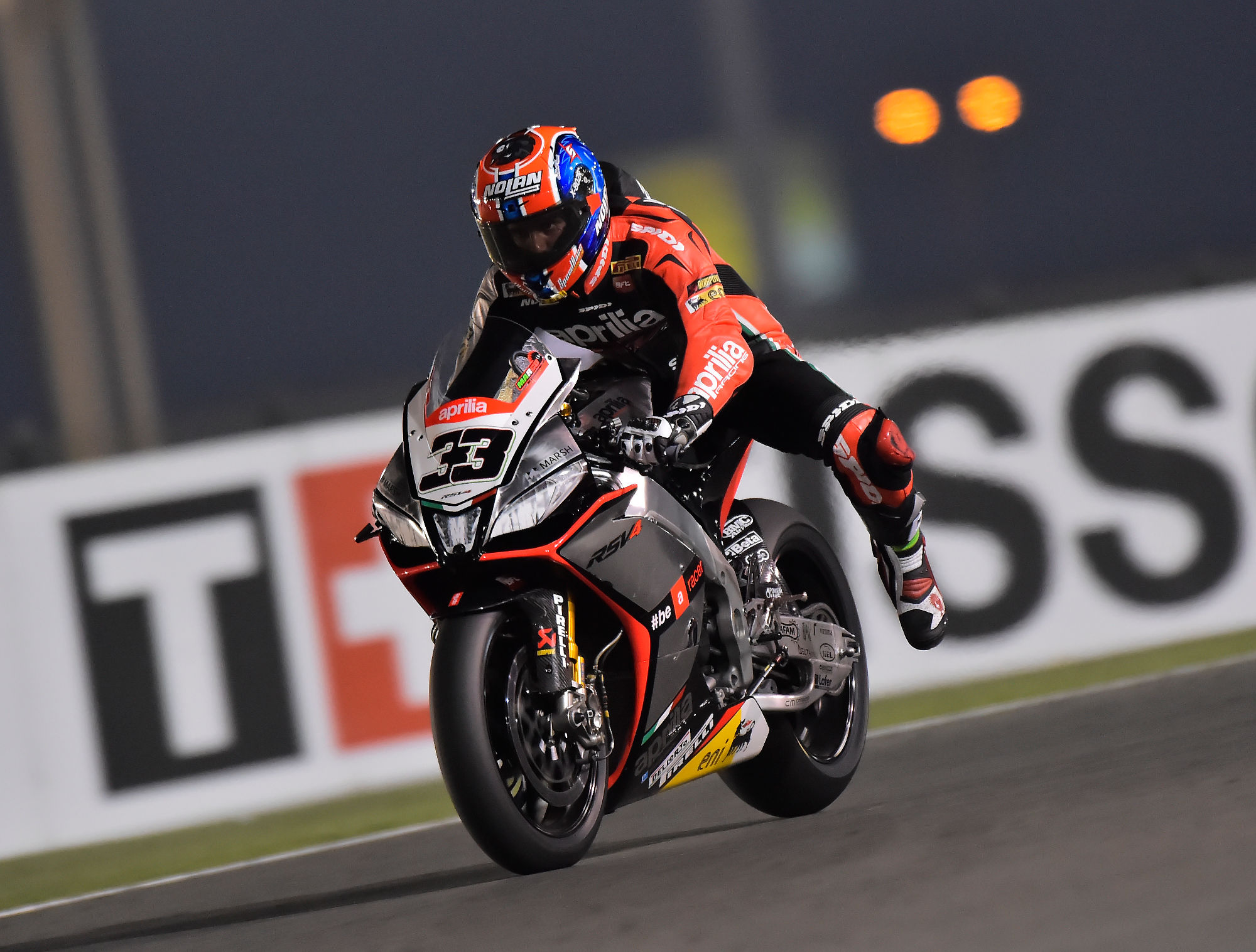 SBK 2014: Aprilia Racing, Marco Melandri, tanti problemi di grip per lui in Qatar