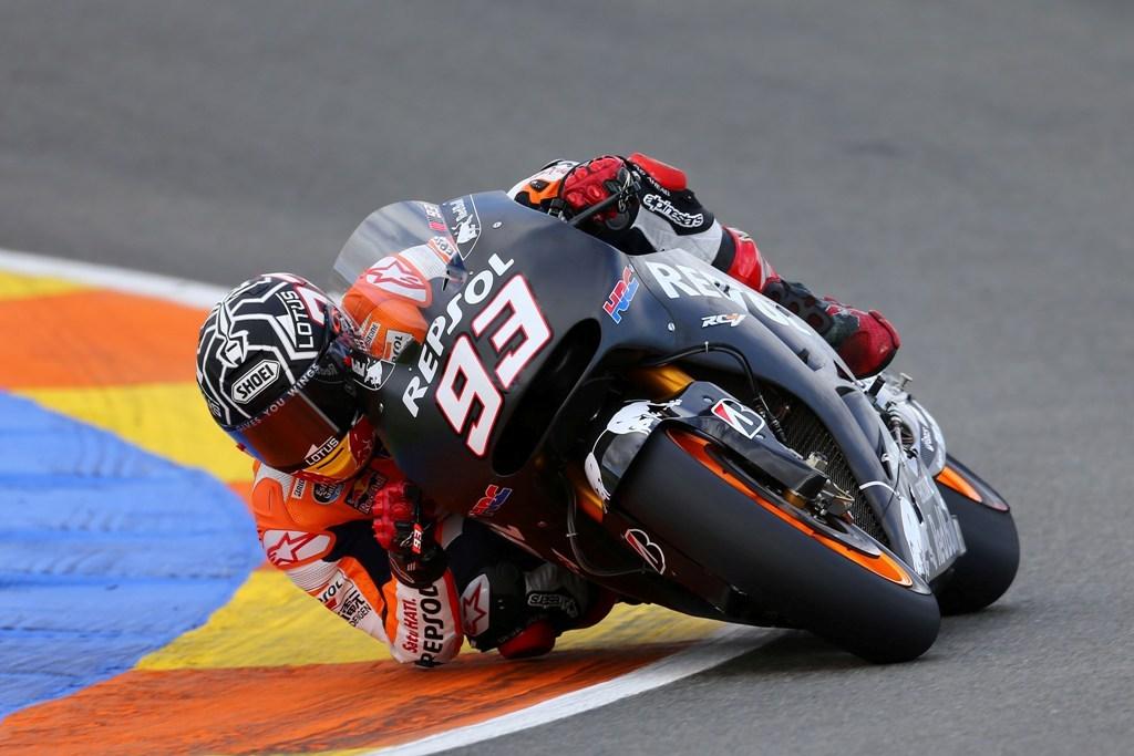 MotoGP 2014, test Valencia, Marquez prova il prototipo 2015