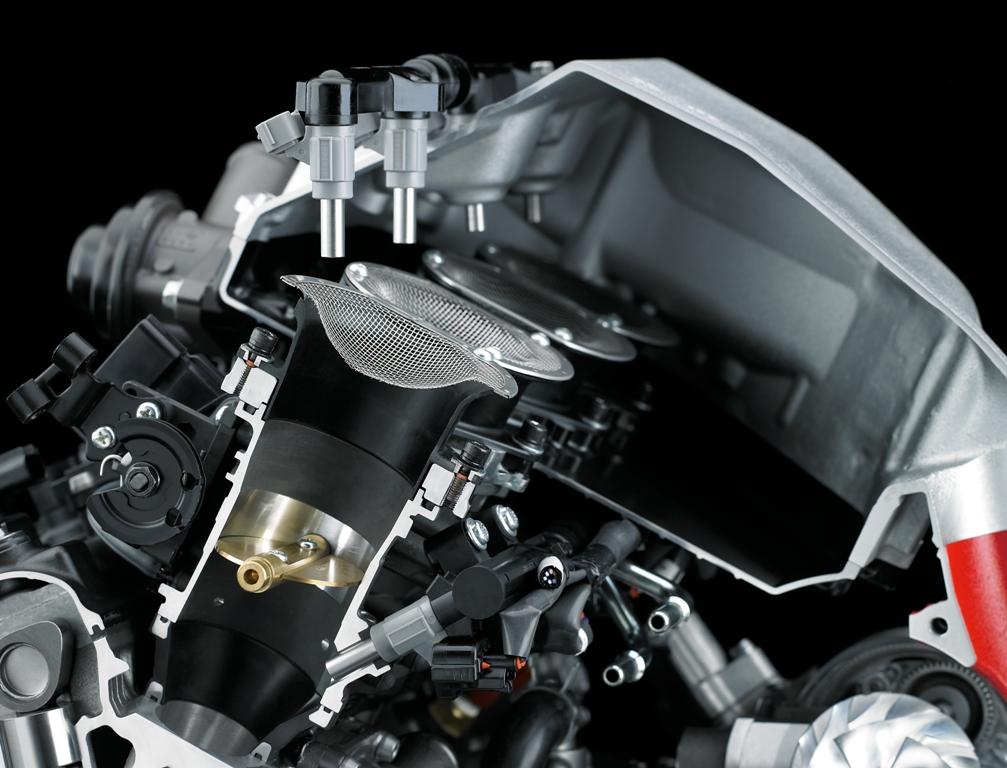 Kawasaki H2, L'air box della H2 Kawasaki in alluminio