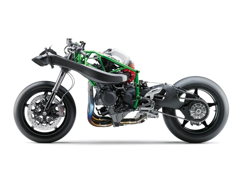 Kawasaki H2, ciclistica molto raffinata e massima compattezza