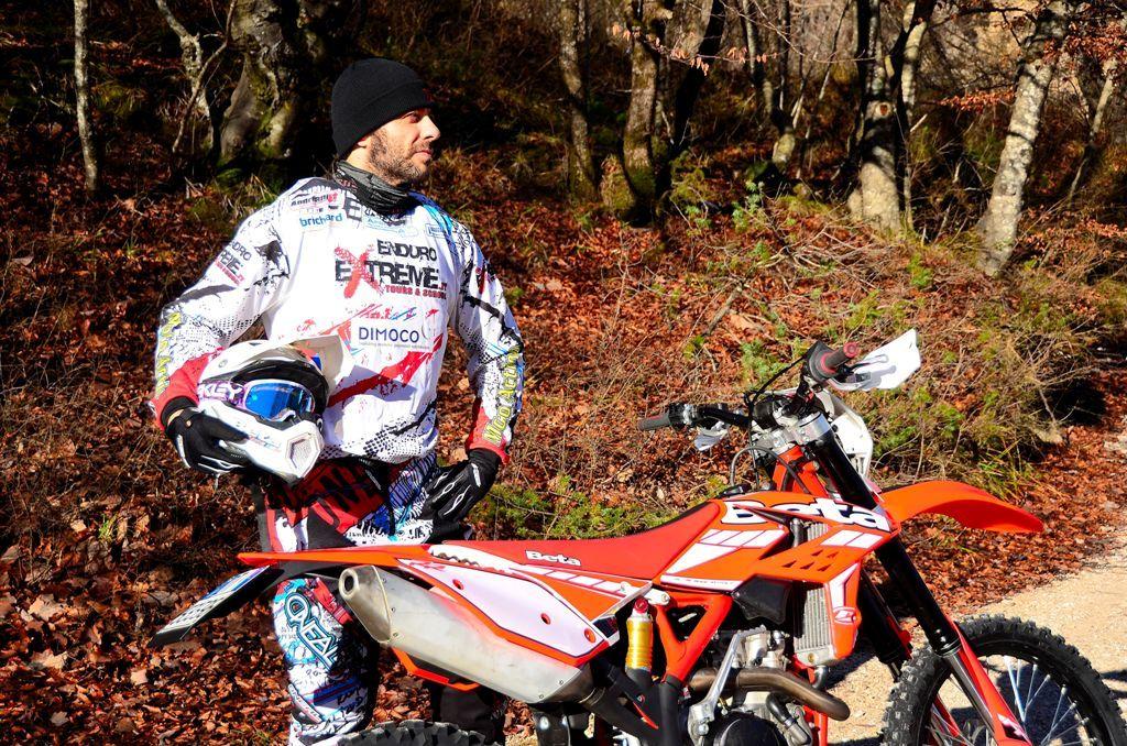 Marco Maggi e la Beta RR 350 2015, protagonisti del test hard enduro