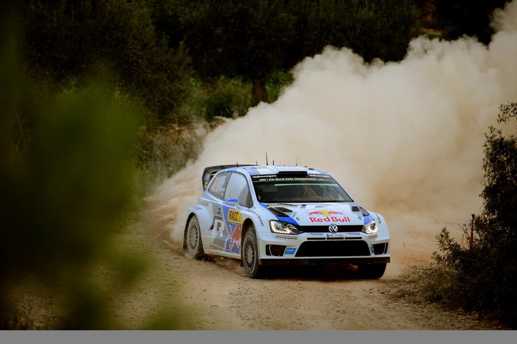 WRC 2015, Ogier in un'immagine WRC 2015 in Spagna