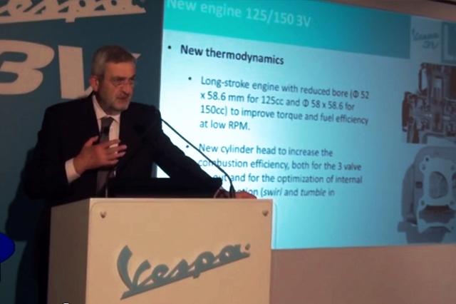 Ing. Federico Martini-Piaggio, presentazione motori 3V