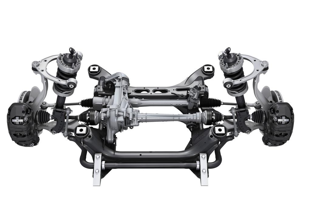 Lo schema delle sospensioni della nuova Porsche Cayenne