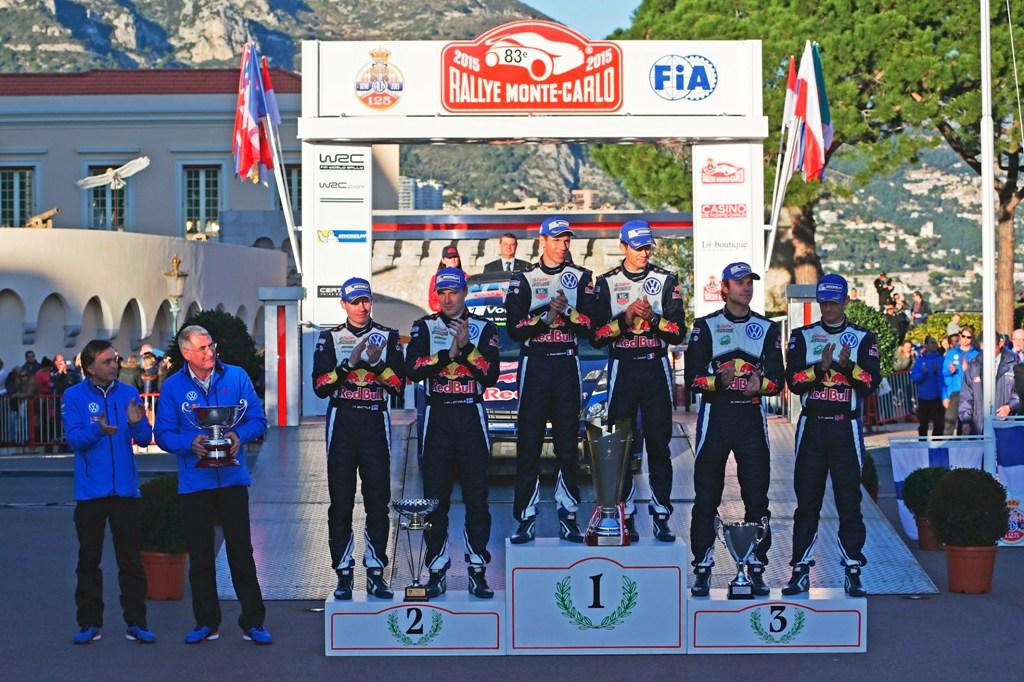 Rally di Monte Carlo 2015 podio VW