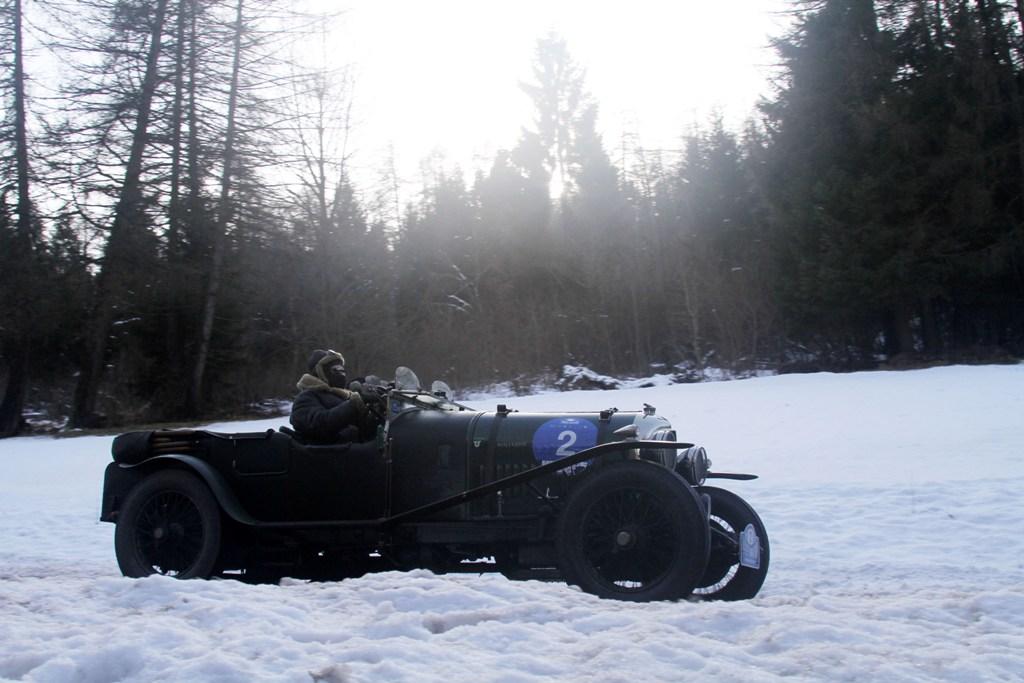 La Bentley del 1926 ha sfiorato il podio nell'edizione 2015 della Winter Marathon