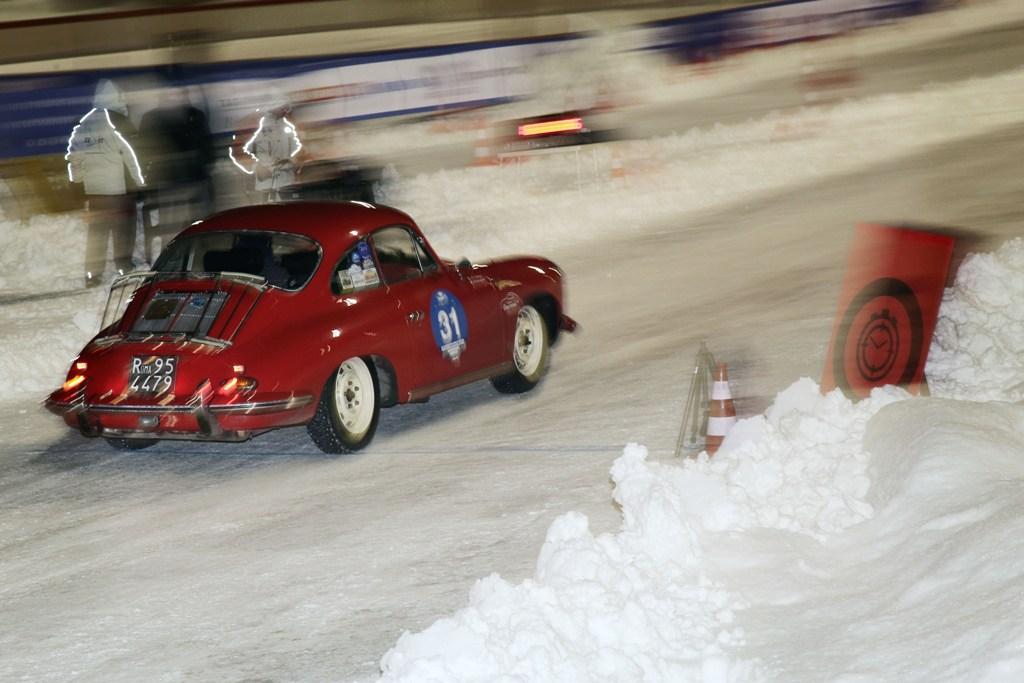 Un passaggio della Winter Marahon sui tratti innevati degli oltre 400 km di gara