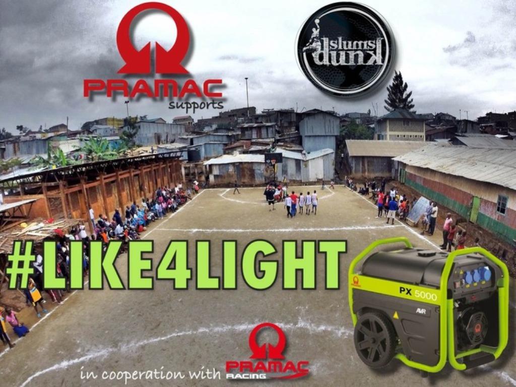 like4light, Pramac e Slums Dunks insieme per dare luce