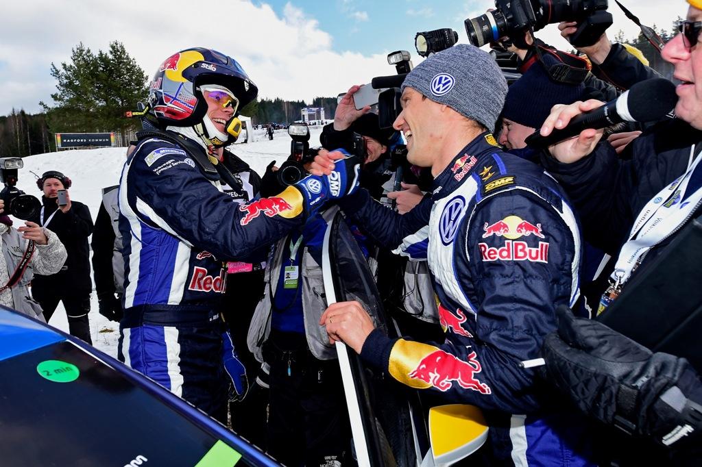 WRC 2015, Svezia, Ogier e Mikkelsen