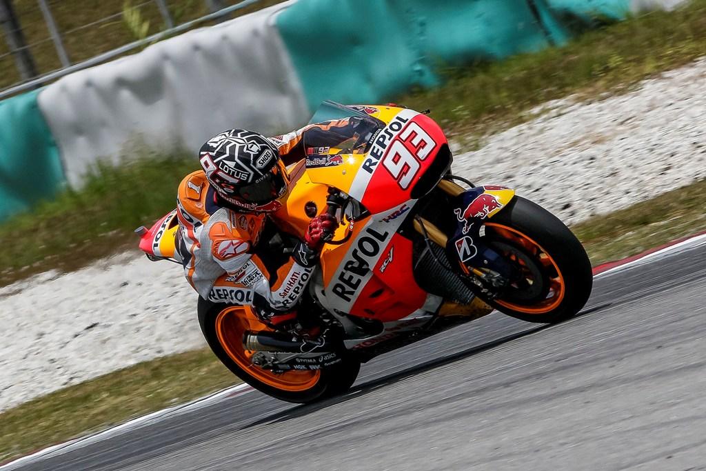 MotoGP 2015, Marquez a Sepang 2 davanti a tutti anche l'ultimo giorno