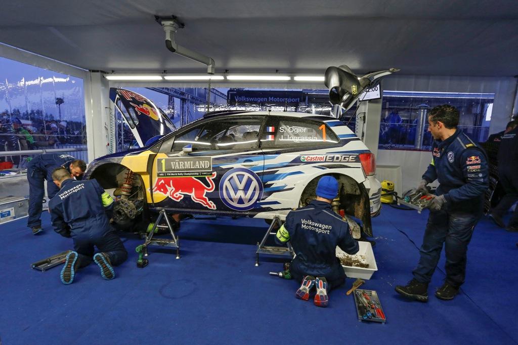 WRC 2015, Svezia, la Polo R WRC monta il cambio a palette sul volante quest'anno