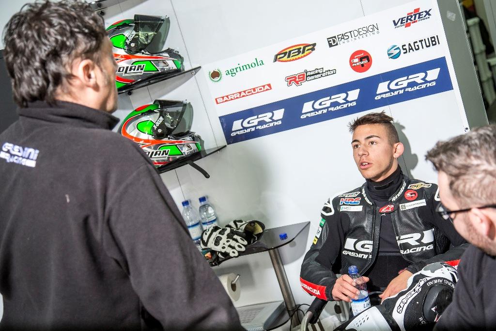 Moto3, Valencia test IRTA, Fabrizio Cecchini