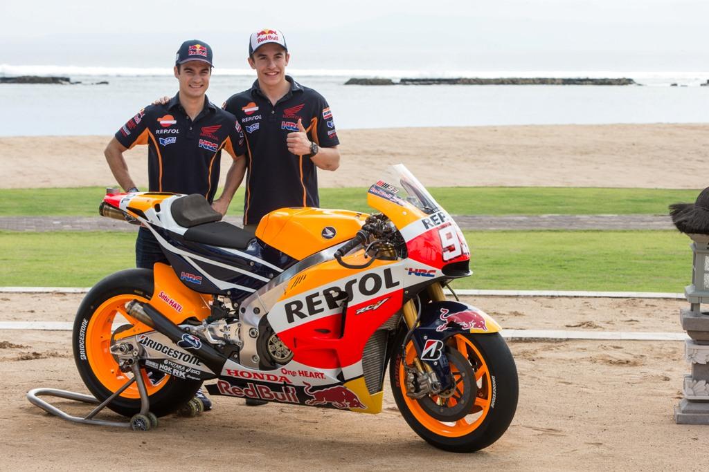 MotoGP 2015, Marquez e Pedrosa a Bali per la presentazione team e moto 2015