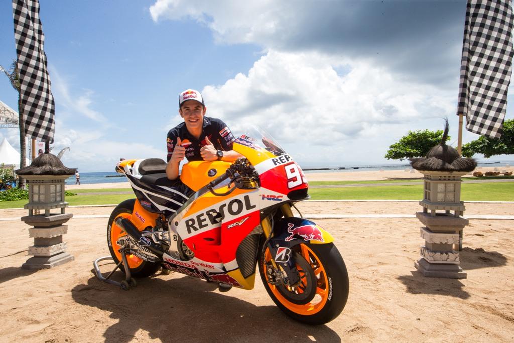 MotoGP 2015, Bali, Marc Marquez è pronto a dare battaglia a tutti