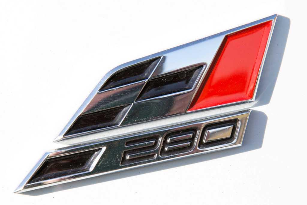 Il logo della Cupra 280 Cv non lascia dubbi sulla sua natura racing