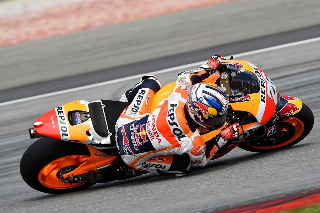 MotoGP 2015, Dani Pedrosa, ai test di Sepang, quarto nel secondo giorno