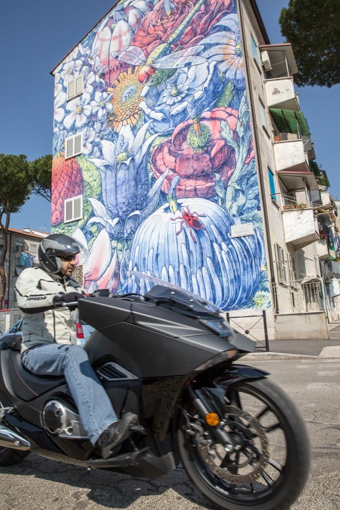 Honda Vultus, le sue forme creative sono arte come i murales della Street Art