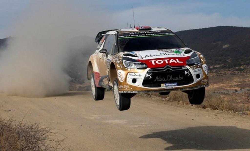 WRC 2015, la Citroen DS3 WRC di  Ostberg, secondo al traguardo del Rally del Messico