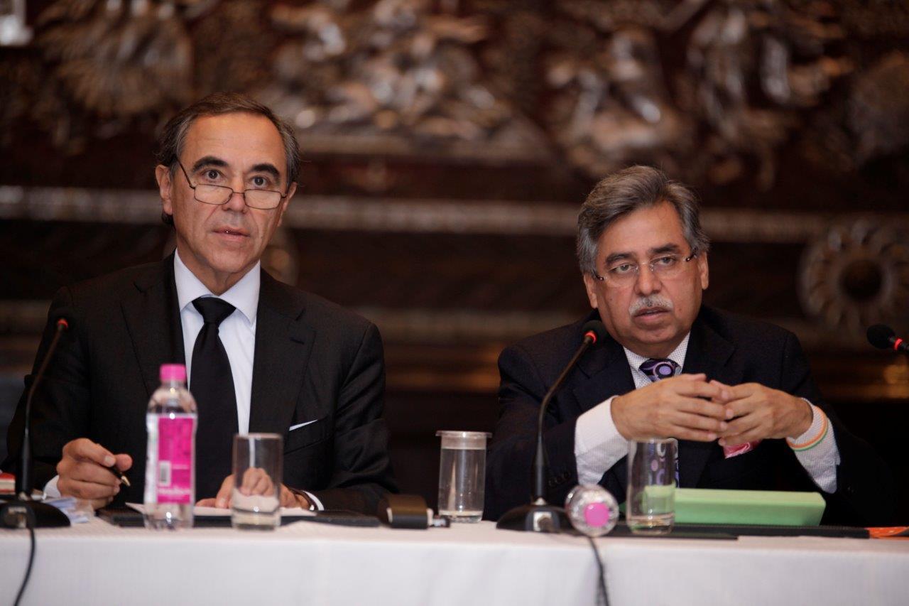 Mr Eugenio Razelli CEO Magneti Marelli & Mr Pawan Munjal MD & CEO Hero MotoCorp
