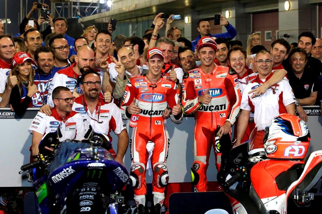 Qatar MotoGP 2015, Team Ducati, Dovizioso e Iannone