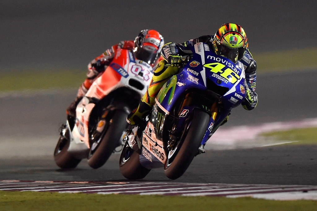 Qatar 2015, MotoGP, Rossi e Dovizioso