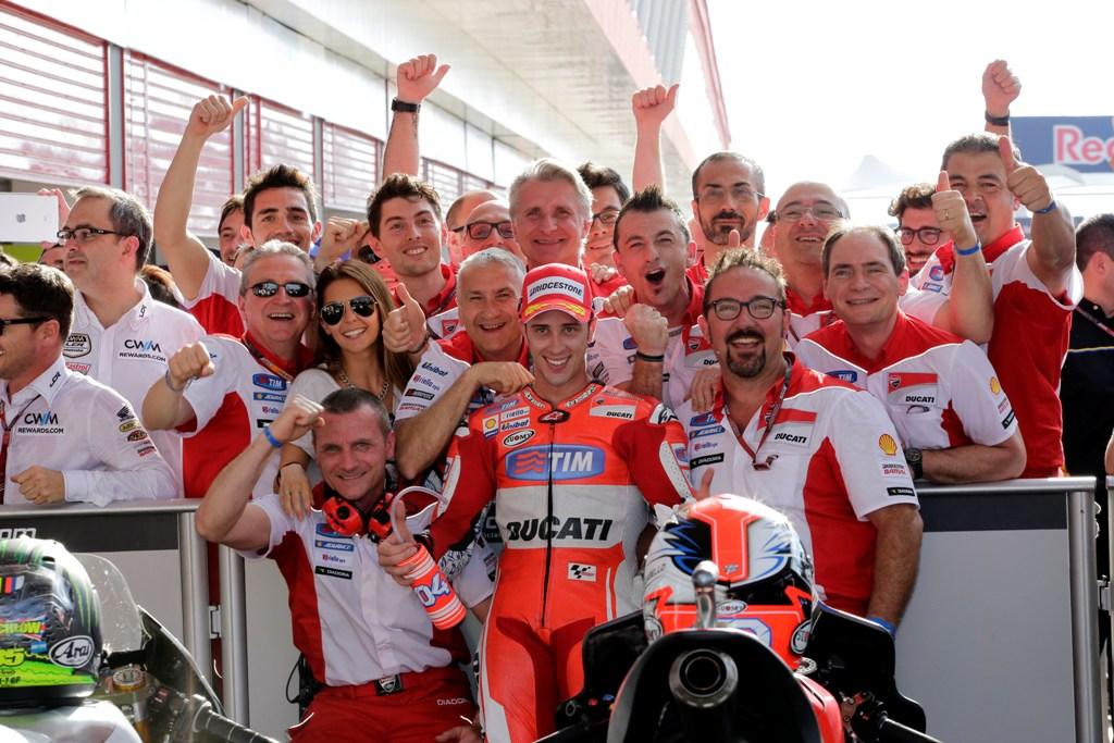 MotoGP 2015, Andrea Dovizioso, GP Argentina, secondo posto per lui