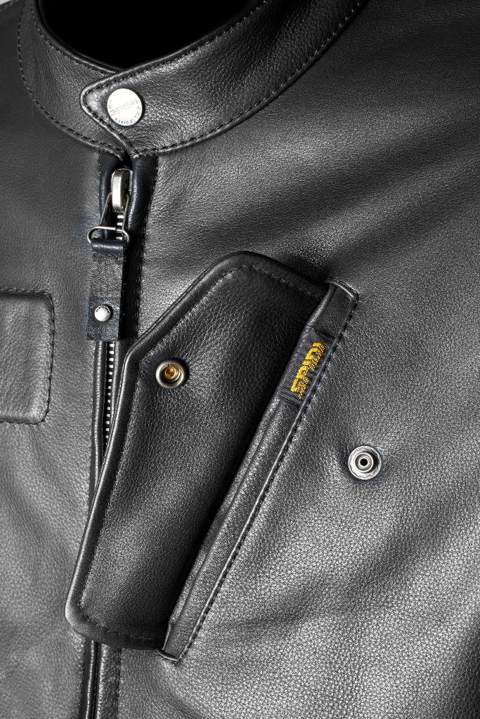 Spidi, un dettaglio della giacca in pelle Fandango 2015