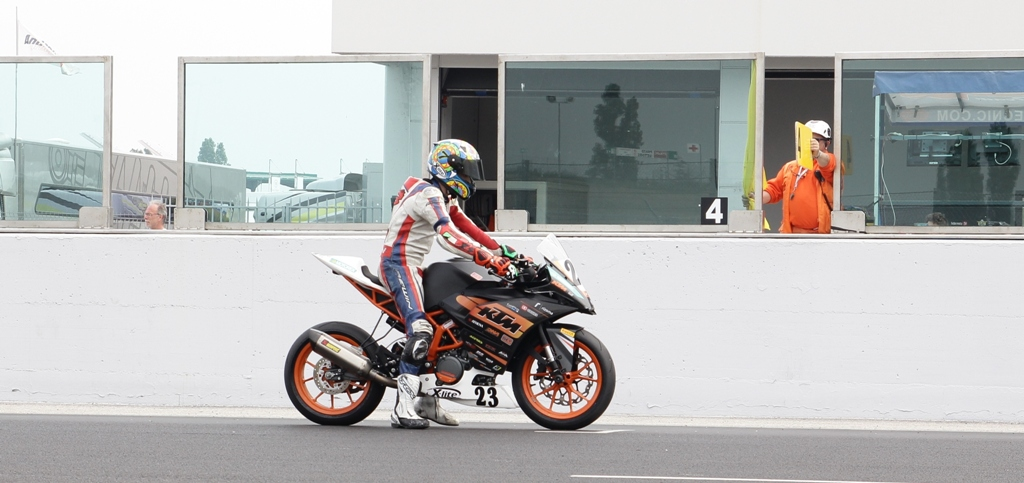 CIV 2015, Paolo Arioni poco prima del via della gara SP 2 e 4T