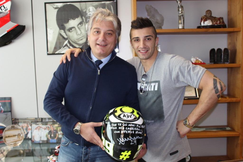 MotoGP, Andrea Iannone porterà il logo Pramac sulla tuta per l'intera stagione 2015