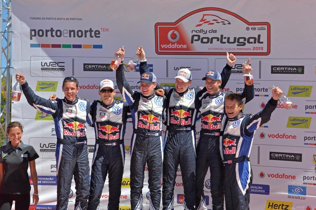 WRC Portogallo 2015, il podio tutto VW