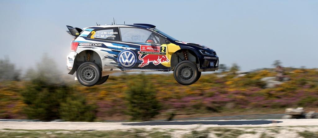 WRC Portogallo 2015, la Polo WRC affronta un salto
