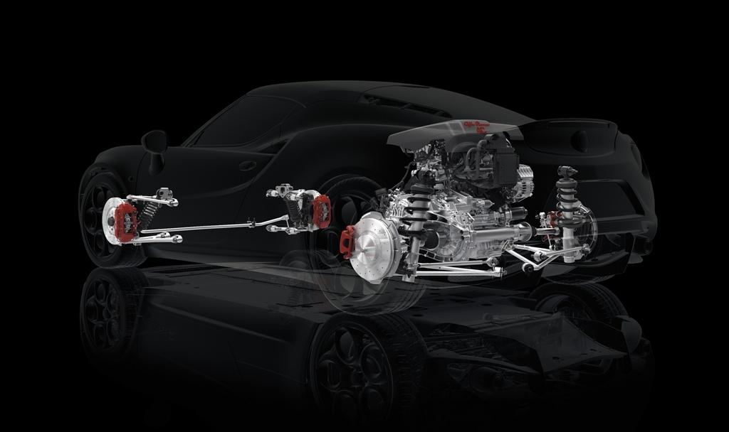 Alfa Romeo 4C, la disposizione centrale/trasversale del motore