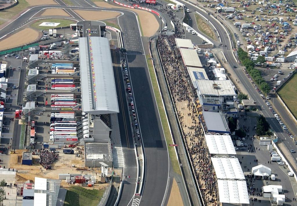 MotoGP, una vista del circuito di Le Mans