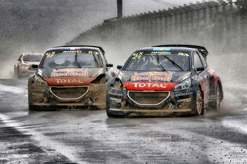 WRX 2015, le due Peugeot 208 WRX in gara