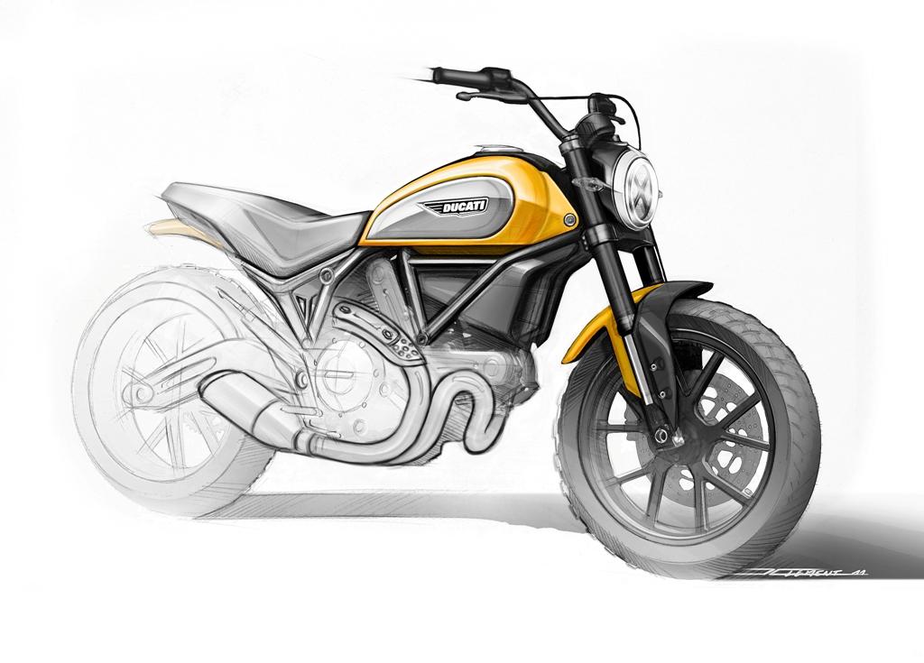 Ducati Scrambler Sketch, elementi di design abbinati