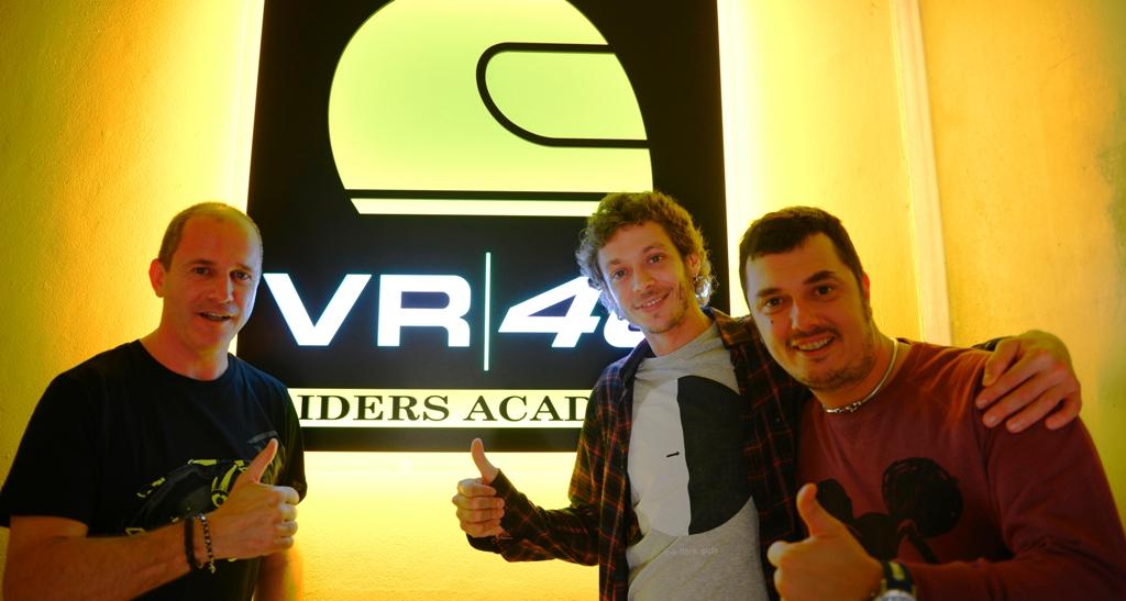 Alberto Tebaldi, Valentino Rossi, Alessio Salucci, VR46 Academy 2015