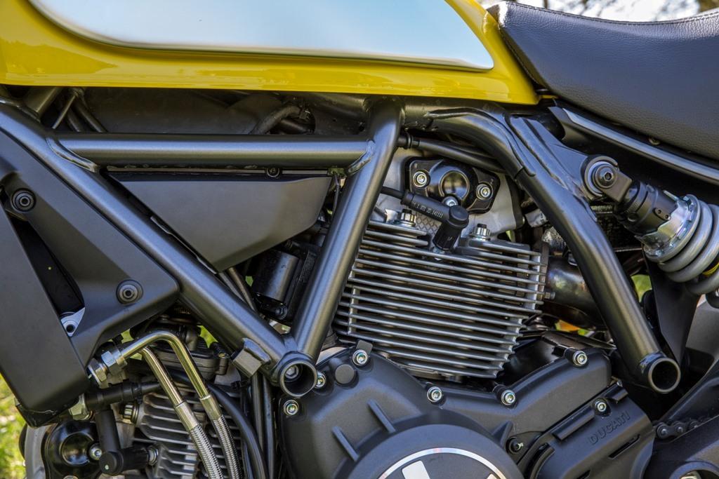 Ducati Scrambler, il desmo bicilindrico e quello della 796 rivisto nel diagramma