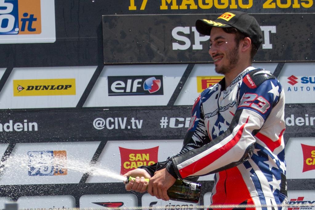 CIV 2015, podio SP Vallelunga, Paolo Arioni #23