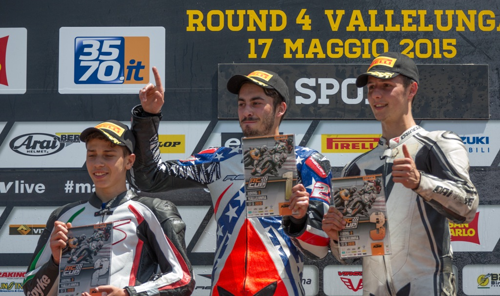 CIV 2015 Round 2 podio Arioni, Setaro e Lumina