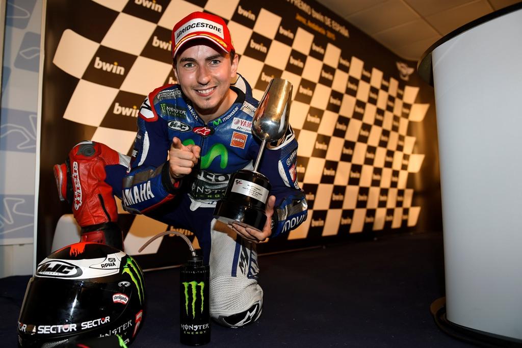 MotoGP 2015, Jorge Lorenzo podio Jerez 2015