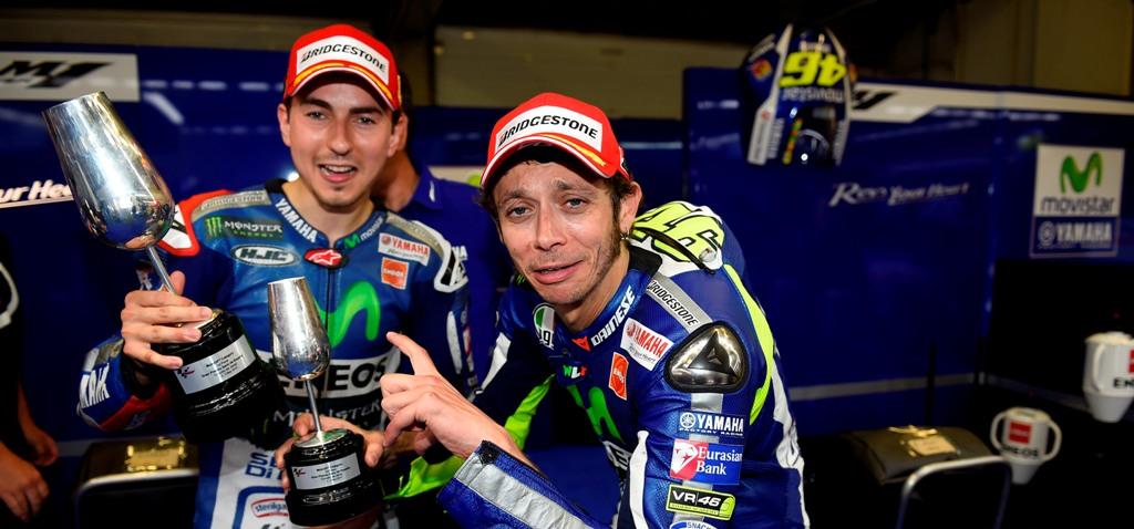 MotoGP 2015, Jerez, Rossi e Lorenzo insieme