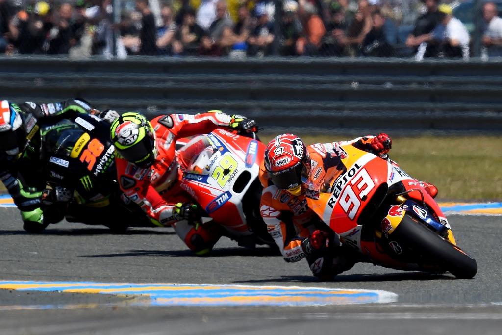MotoGP 2015, Marc Marquez, quarto al GP di Francia ha accusato problemi all'anteriore