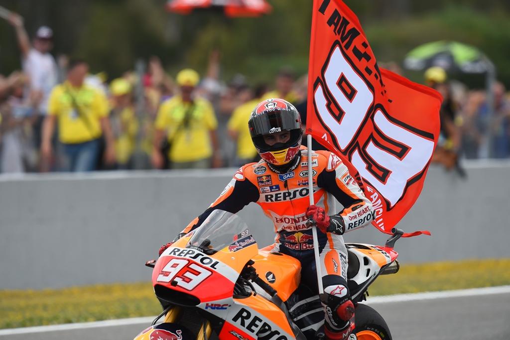 MotoGP 2015, Marc Marquez festeggia a Jerez