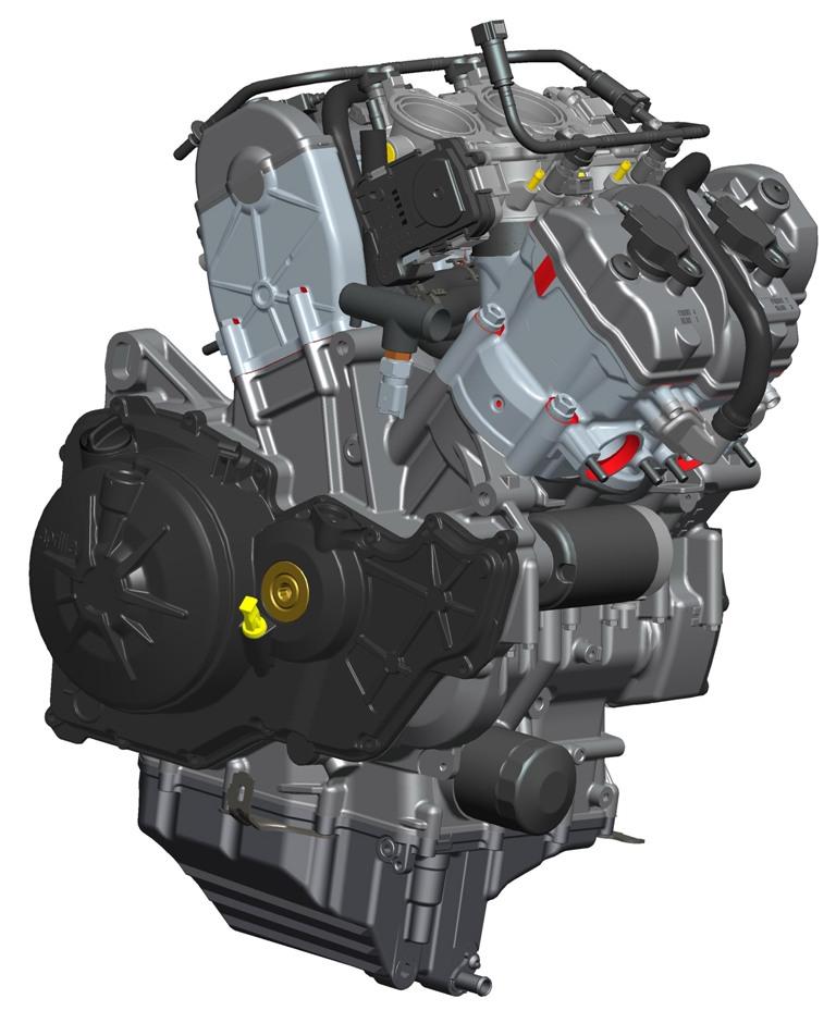 Aprilia RSV4 2015, il nuovo motore alleggerito pesa meno ed è più potente