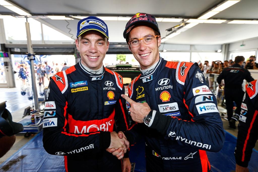 WRC 2015 Sardegna, Paddon e Neuville Team Hyundai WRC secondo e terzo posto