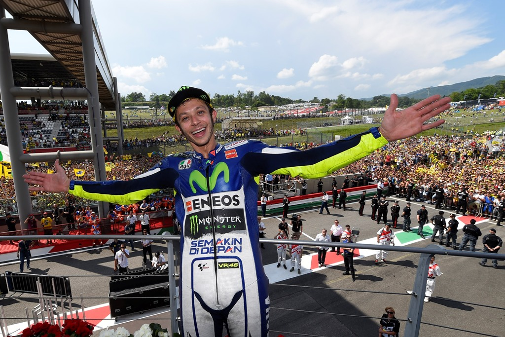 MotoGP 2015, Valentino Rossi, terzo al Mugello rimane capoclassifica